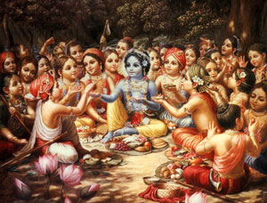 for the pleasure of Lord Krishna