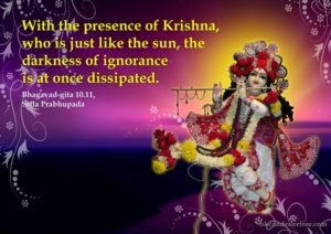 Krishna destroys all ignorance